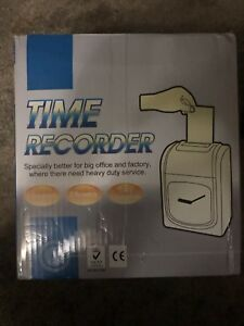 K 7 Employee Punch Machine Time Clock Recorder Bundle With Cards Card