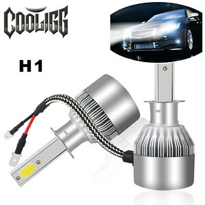 1 Pair H1 200w 20000lm Cob Car Led Headlight Bulbs Conversion Kit 6000k White