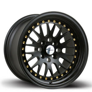 Avid1 Av12 15x8 25 4x100 Black Civic Integra Fit Crx Miata Yaris Corolla