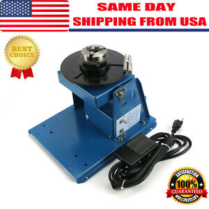 Ship Rotary Welding Positioner Turntable Table Mini 2 5 3 Jaw Lathe Chuck