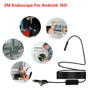 Endoscope Camera No Battery Wifi usb Android Endoscopic Inspection Tube Cam 2m