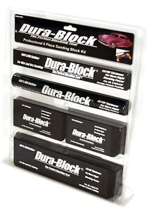 Block Dura 6 Piece Sanding Set Auto Body Work Kit Car Sander Hand Tool Black New