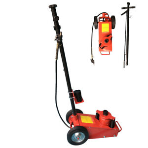 22 Ton Heavy Duty Air Hydraulic Floor Jack Mechanic Repair Car Lifting Tool Red