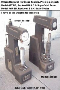 Wilson Rockwell Hardness Tester B C Scale B C Superficial Your Choice