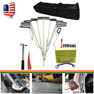New Tools Rods Hail Dent Ding Paintless Dent Repair Hail Removal Tools Set
