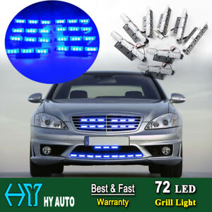 72 Led For Car Truck Emergency Warning Dash Front Grille Strobe Flash Light Blue
