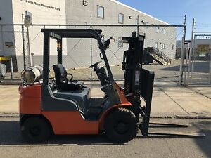 Mitsubishi Cat 5 000lb Pneumatic Tire Forklift 3 Stage And S s