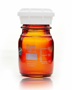 Puregrip Bottles Reagent Amber Graduated With Gl45 Screw Cap And Pouring Ring