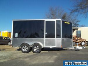 2020 Aluma Ae712tam Cargo Enclosed Aluminum Trailer 7 X 12 Motorcycle W Extra Hi
