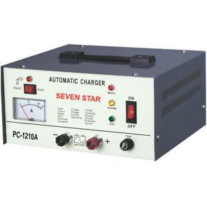 Seven Star Pc 1210a Automatic Car Lead Acid Battery Repair Charger 6v 12v 10amps