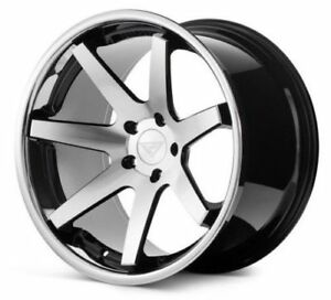 22 Ferrada Fr1 Machined Black Concave Forged Wheels Rims Fits Chrysler 300 C S
