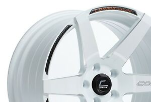 Cosmis Racing S1 18x9 5 15 5x114 3 White pair 2 Pieces Only