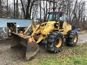 Case W14c Articulating Wheel Loader 90hp Cummins Forestry Special Tires