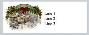 30 Personalized Return Address Labels Merry Christmas Buy 3 Get 1 Free bx 999