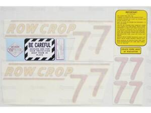 Oliver 77 Row Crop Tractor Complete Decal Set Die cut Vinyl Label transfers Kit