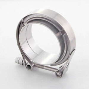 3 304 Stainless V band Exhaust Clamp Flange Universal