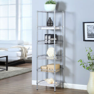 Adjustable Home Kitchen 6 tier Wire Shelving Unit Organizer Storage Rack Baskets