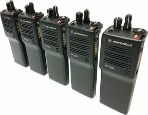 5x Motorola Ht1000 Two Way Radio Vhf 136 174 Mhz 16 channel Narrowband Portables