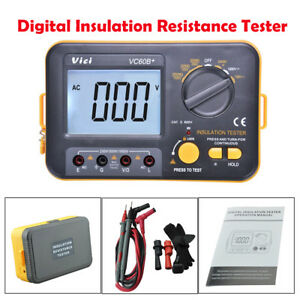 New Vc60b Digital Insulation Resistance Tester Megger Meter 1000v 0 1 2000m Us