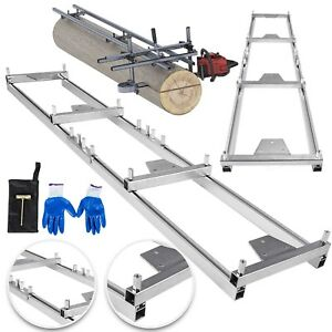 Chainsaw rail Mill Guide System 9ft 2 7m 4 Reinforce Saw Mill 4 Fixed Plate