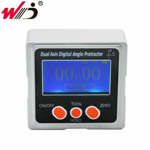 New Dual Axis Digital Inclinometer Angle Finder Bevel Box With 3 side Magnets
