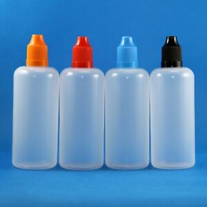 100 Ml Plastic Dropper Bottle Child resistant Closure With Long Tips 100 Pcs