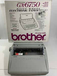 Brother Gx 6750 Electronic Typewriter W keyboard Cover Correctronic Daisy Wheel
