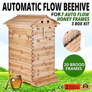 2018 New 3 Layers Ultra Bee Hive Wooden Beehive Honey House Beautiful Safe