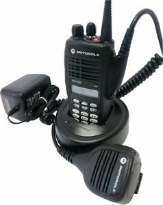 Motorola Ht1250 Vhf Two Way Radio 136 174 Mhz 128ch Mdc Quikcall Aah25kdh9aa6an