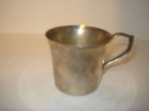 Vintage Baby Cup Wallace Silver Plate W Monogram