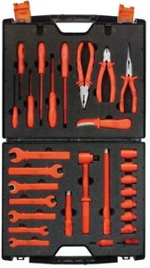 Jameson 1000 volt Insulated Maintenance Imperial Electrical Tool Set 29 piece