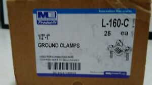New Madison Electric L 160 c 1 2 1 Ground Clamps Box Of 25
