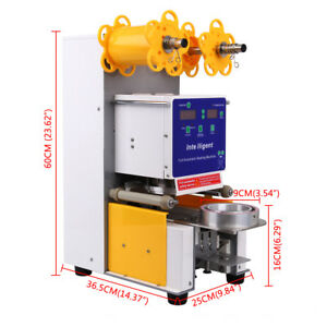 Electric Full Automatic Bubble Tea Cup Sealer Sealing Machine 750 Cups hr Xmas