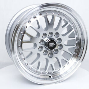 Mst Mt10 15x7 25 5x100 5x114 3 Silver W Machined Face Set Of 4