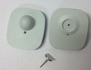 500pcs Of Shoplifting Eas Compatible 8 2mhz Tags gray With 16mm Grooves Pin
