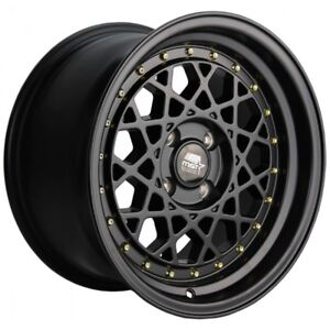 Mst Fiori 15x8 20 4x100 Matte Black set Of 4
