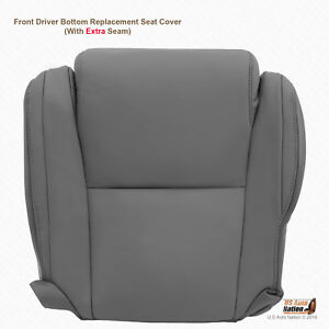 For 2007 2008 Toyota Tundra Driver Bottom Gray Leather Replacement Seat Cover