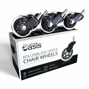 The Office Oasis Office Chair Caster Wheels Set Of 5 Heavy Duty Universal No Box
