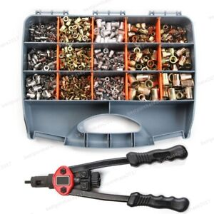 900pcs Nutsert Tool Kit Rivnut Stainless Steel Rivet Nut Tool Mandrels Kit Mixed