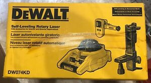 Rotary Laser Level Kit Detector Dw074kd Dewalt Self leveling Horizontal Vertical