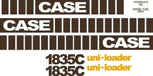 Case 1835c Replacement Decals Sticker Decal Kit Mid