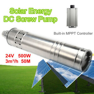 500w 24v 50m 3m3 h Dc Brushless Solar Powered Submersible Deep Well Water Pump