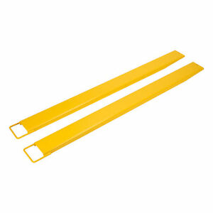 84 Forklift Pallet Fork Extensions Pair High Tensile Heavy Duty Slide Clamp