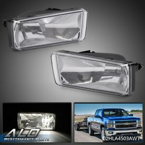 Fit For 2007 2014 Chevy Silverado Tahoe Suburban Avalanche Fog Lights Left Right