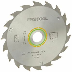 Festool 495379 Standard Ripping Blade For Ts 75 Plunge Cut Saw 18 Tooth