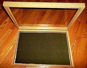 Wood like Display Case 25 X 17 X 3 For Arrowheads Knives Collectibles Coins Nice