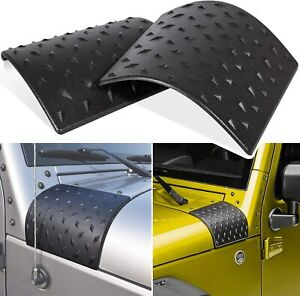 Cowl Body Armor Cover Fit Jeep Wrangler Rubicon Sahara Jk Unlimited 07 17 Pair