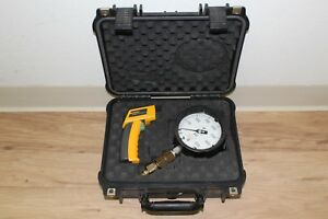 Fluke 62 Mini Ir Thermometer W Usg Pressure Gauge Case
