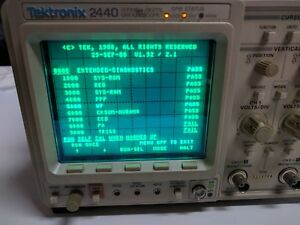 Tektronix 2440 500ms s Digital Oscilloscope With Manuals fail Pa And Trig