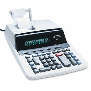 Sharp Vx2652h Two color Printing Calculator 12 digit Fluorescent Black red